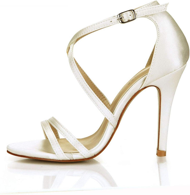Summer Sexy Buckle Sandals 10 cm Thin high Heels Peep Toe shoes Woman Cross Strap Pumps Plus  35-43