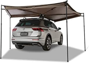 Khaki, Dia. 6.5ft Right DANCHEL OUTDOOR 270 Degree Sector Shaped car Side foxwing Awning