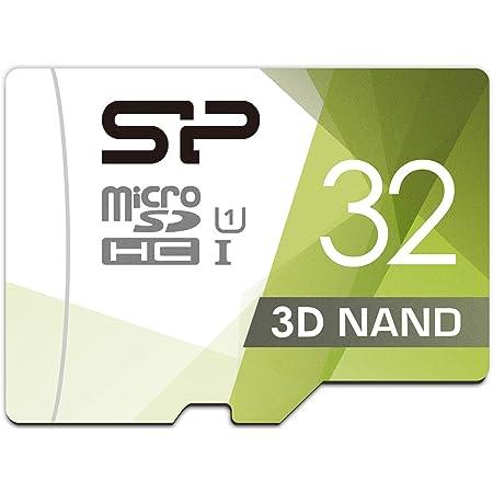 シリコンパワー microSD カード 32GB class10 UHS-1対応 最大読込85MB/s Nintendo Switch 動作確認済 3D Nand