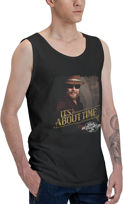Hank Williams Jr It's About Time Tank Top Boys Summer Sleeveless Tee Stylish Vest