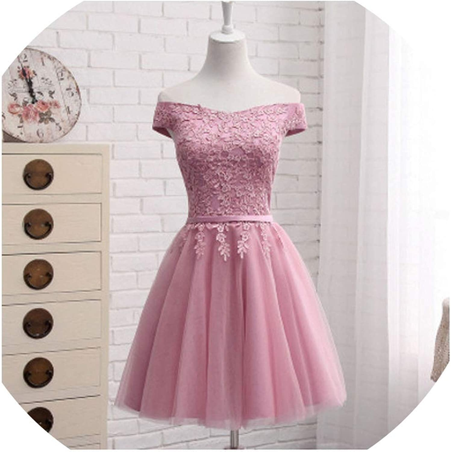 Bridesmaid Dresses FloorLength Boat Neck Cap Sleeve Applique Embroidery Dress