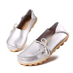 a5295f5d38d labato Women s Leather Casual Loafers Driving Moccasin Flats .