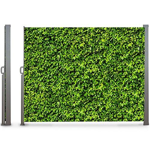 IDMarket - Paravent extérieur rétractable 300 x 160 cm Motif Feuillage