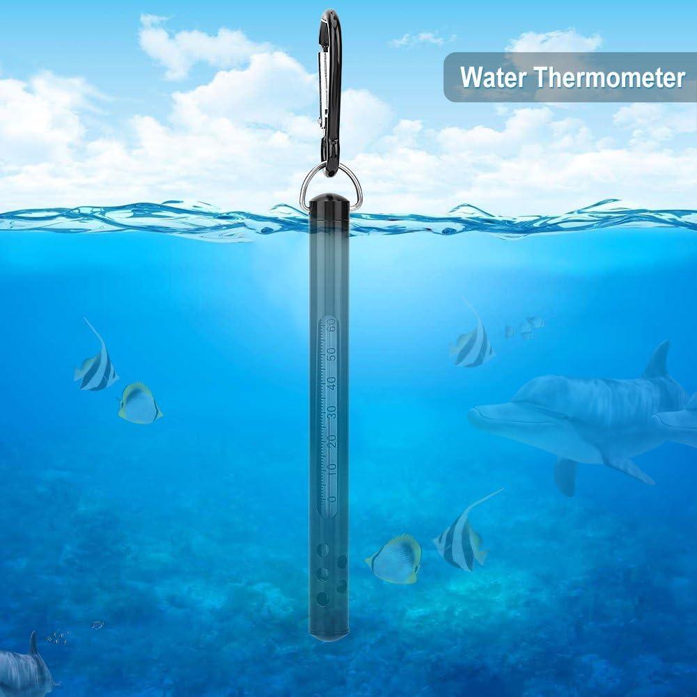 Stream Fliegenfischen Thermometer Gr/ün optional Blau Brook und River Fliegenfischen Angelzubeh/ör Plyisty Fliegenfischen Wasserthermometer f/ür Stream Schwarz mit Karabiner