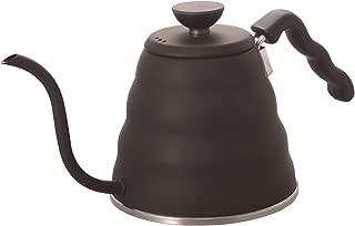 Hario V60 Buono Stainless Steel Gooseneck Coffee Kettle, Stovetop Black (1.2L/ 1200 ml)