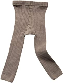 Goodplayer Toddler Baby Basic Ribbed Sweater and Leggings Footless Tights Kids Little Girls Dress Bottom Top Pants