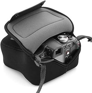 USA Gear Bolsa Funda Cámara Reflex - Protección duradera de Neopreno - para Canon EOS 100D 400D 1000D / Sony SX510 HS / Nikon Coolpix S6800 y mucho más