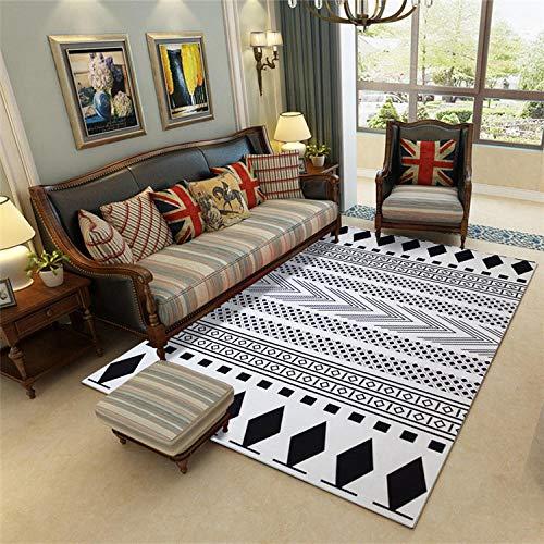 YFKSLAY - Alfombra geométrica lavable para dormitorio de salón elegante y simple, 7, 140 cm × 200 cm