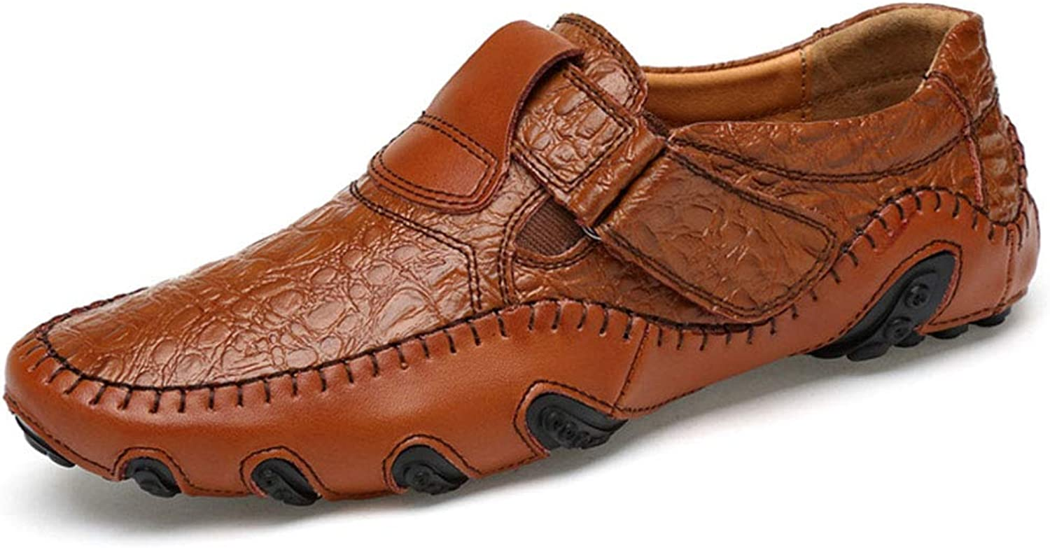 Men's Leather shoes, Non-Slip Driving shoes, Fashion Loafers, Business Casual shoes, Black and Brown