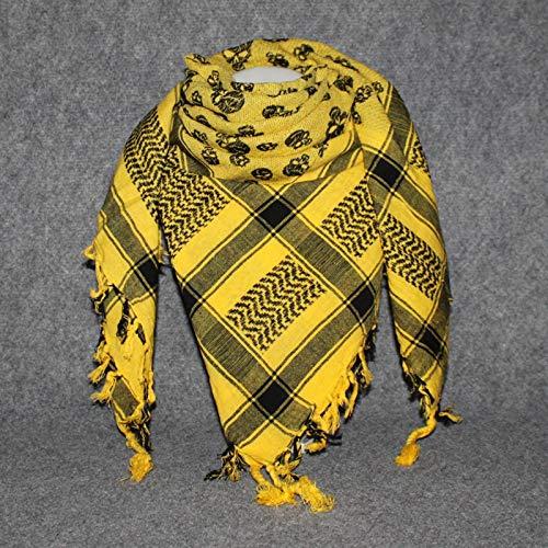 Superfreak Palituch - Totenköpfe klein gelb - schwarz - 100x100 cm - Pali Palästinenser Arafat Tuch - 100{1e397ba6feae195c40726ac1b7a137382e55a7548f1b9af74ef9ff2af0b78303} Baumwolle