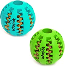 Best Idepet Dog Toy Ball, Nontoxic Bite Resistant Toy Ball for Pet Dogs Puppy Cat, Dog Pet Food Treat Feeder Chew Tooth Cleaning Ball Exercise Game IQ Training Ball Review