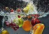 APAZSH Poster E Impresiones De Alimentos De Frutas Pintura De Lienzo De Cocina UVA De Manzana Cuadros ArtíSticas De Pared para Comedor HabitacióN En Casa Decoracion Moderna 60x90cm Sin Marco
