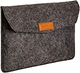 AmazonBasics 11 Inch Felt Macbook Laptop Sleeve Case - Charcoal