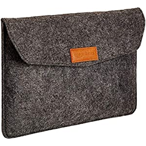AmazonBasics 11 Inch Felt Macbook Laptop Sleeve Case – Charcoal