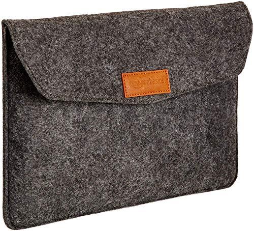 AmazonBasics Laptop-Tasche, Filz, für Bildschirmgrößen bis 11 Zoll , Grau