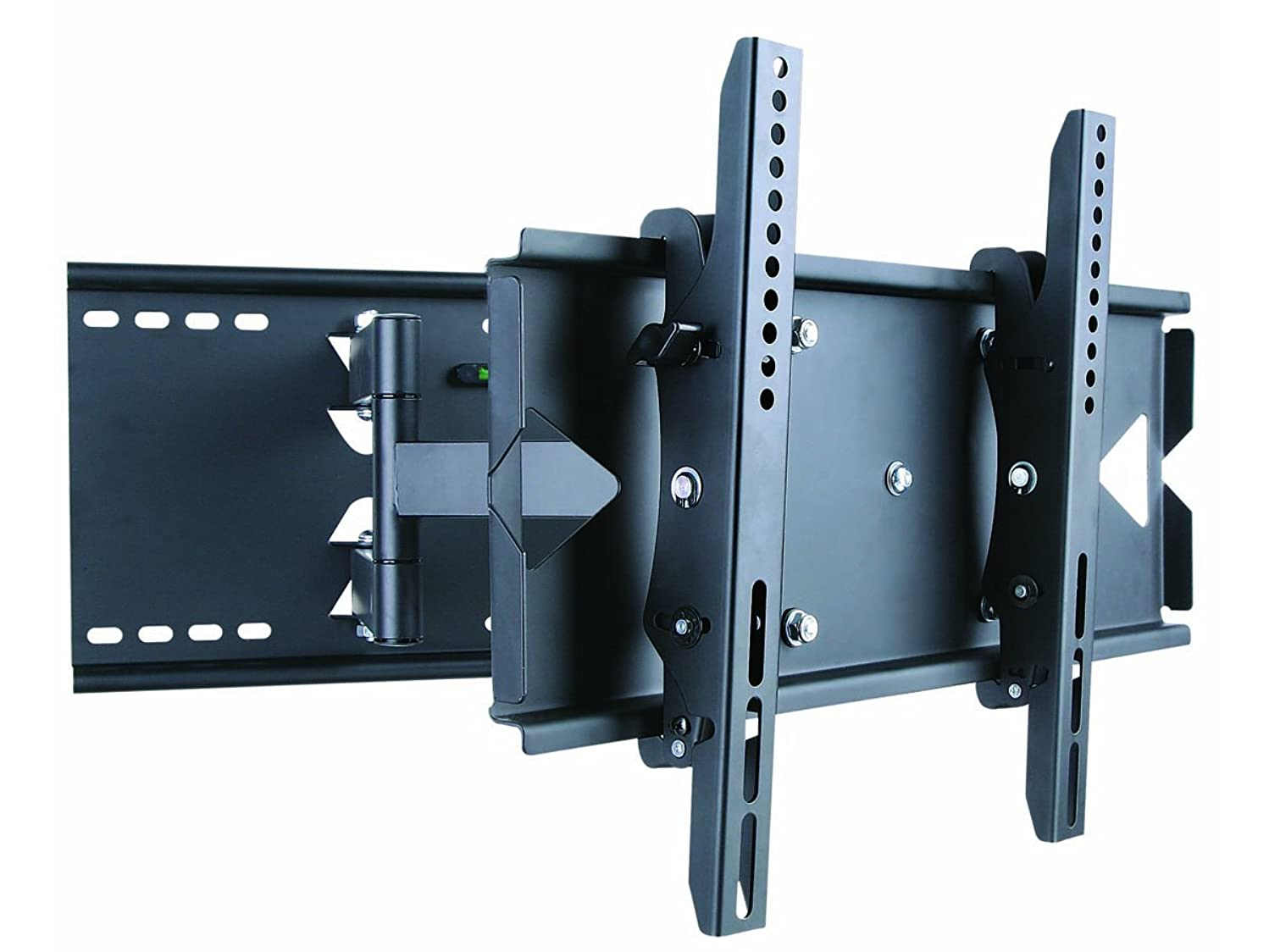 Monoprice Titan Series Full-Motion Articulating TV Wall Mount Bracket - for TVs 23in to 37in Max Weight 130lbs Extension Range of 5.0in to 19.5in VESA Up to 496x330 Works with Concrete & Brick