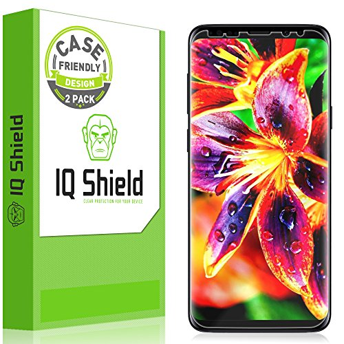 IQ Shield Screen Protector Compatible with Galaxy S9 Plus (2-Pack)(Updated Design Version 1.5) Anti-Bubble Clear Film