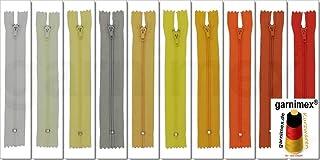 garnimex Lot de 10 Fermetures /Éclair Cr/ème 40 cm x 10