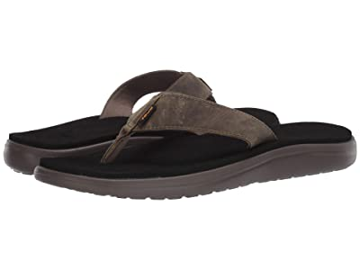 Teva Voya Flip Leather (Dark Olive) Men