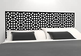 Moroccan Pattern Headboard Decal - Geometric Pattern Vinyl Wall Sticker - Removable Bedroom Decor - Inspired by Morocco - Headboard Wall Graphic (Queen 61