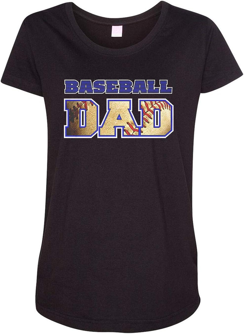 HARD EDGE DESIGN Women's Baseball Dad Ball Cutout T-Shirt