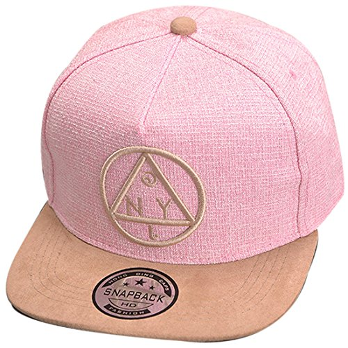 Belsen Kind Hip-Hop Dreieck Muster Cap Baseball Hut (Kind, rosa)