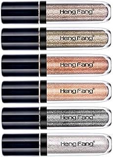MAYCREATE Phenovo Shinning Liquid Makeup Glitter Glow Eye Shadow Shimmer, A (6pcs/Set)