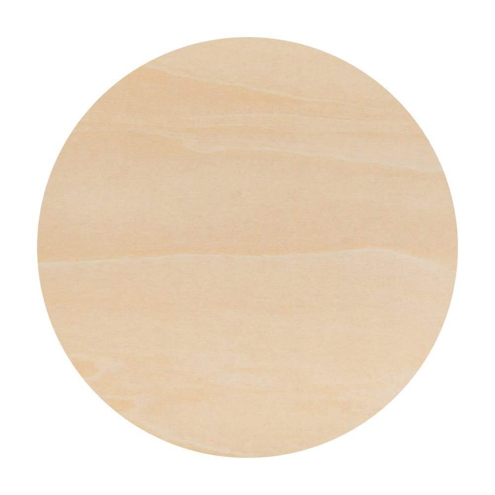 Unfinished Plywood Wood Circles Rounds for Crafts 10 Inch - Bag of 25 by Woodpeckers