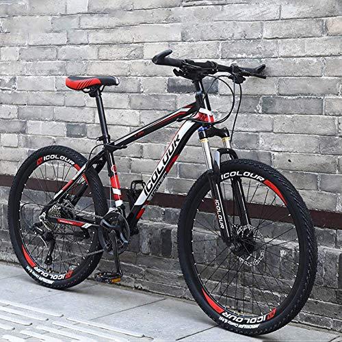 WLKQ Mountain Bike - Bicicletta Montagna - MTB - Bici Biammortizzata - Doppio Freno a Disco in Acciaio/High-Carbonio Telaio Bici, off-Road Beach motoslitta Biciclette, 26 Pollici Ruote,A1