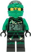 Lego Ninjago Sky Pirates Lloyd Kids Minifigure Light up Alarm Clock   Green/Black   Plastic   9.5 inches Tall   LCD Display   boy Girl   Official