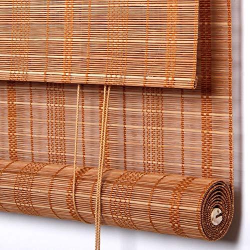 Bambusrollo Im japanischen Stil Roller Shade for Innen/Außen, Veranda/Deck/Balkon/Carport Shade Rolläden mit Orbit und die Rolle, 30% Shading Rate (Size : W130cm X H140cm)