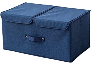 Boîtes de rangement avec couvercles, coton et lin Tissus d'organisation Panier avec poignée Poignée for classeurs à tiroir...