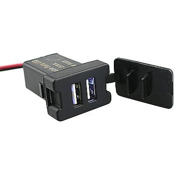 Iztoss 電源ソケット USBポート2 USB接続通信パネル スマホ充電器 USB電源 スイッチホール forトヨタ車系