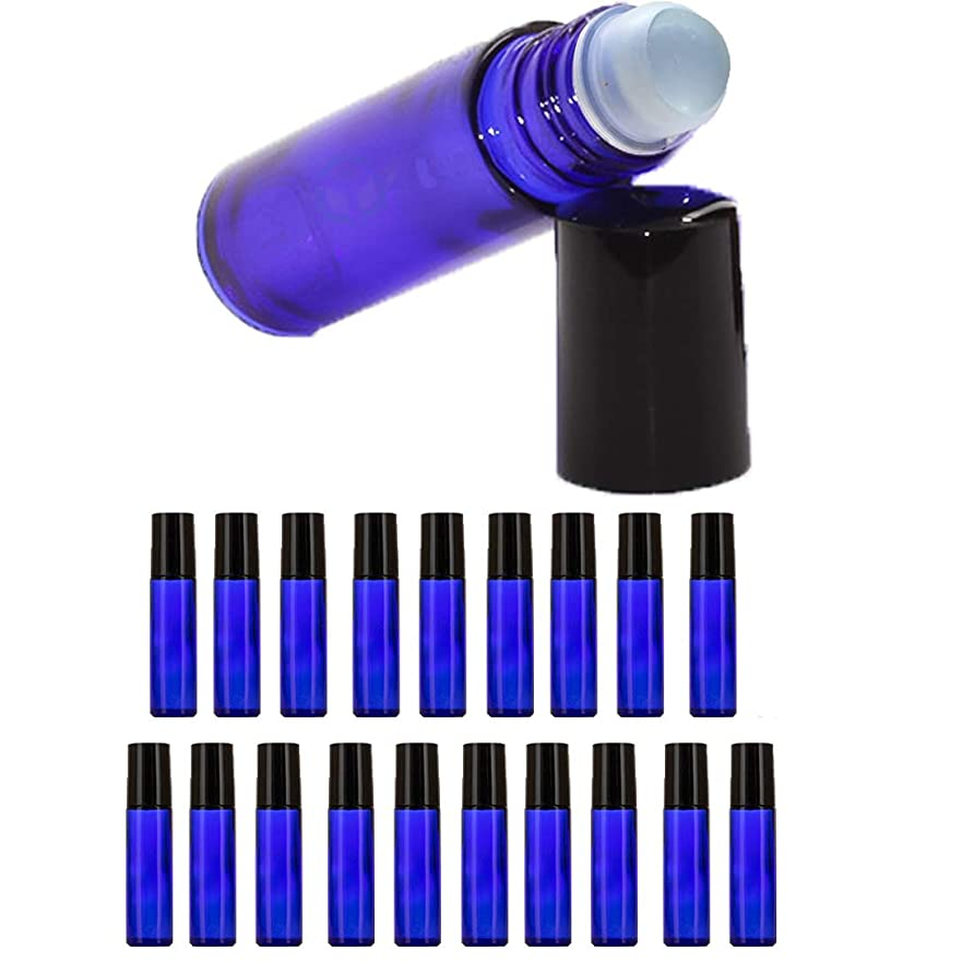 衝突コースマキシムスキー【Nanmara】ロールオンボトル 10ml 20個セット 遮光瓶 小分け ガラスボトル 詰め替え 容器 エッセンシャルオイル 遮光ビン 青色 ブルー (20個セット)