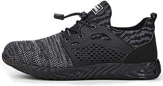 TQGOLD Chaussure de Securité Homme Femmes Chaussures de Travail avec Embout de Protection en Acier Chaussure Taille 35-46