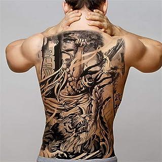 tzxdbh 2 Unids-Big Black Tiger Tatuajes Hombres Lobo Dragón Tatoo Impermeable Bestia Grande Monstruo Cuerpo Tatuajes en la Espalda Tatuaje de Papel Temporal Grande 2Pcs-26