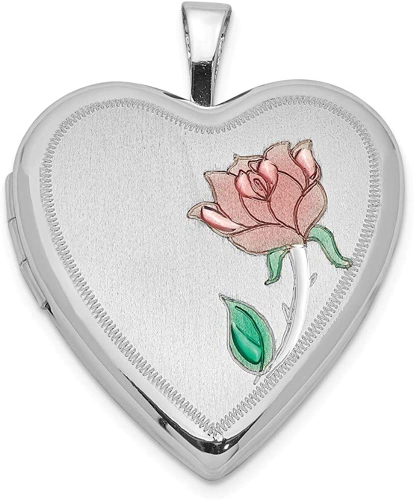 FB Ranking TOP6 Jewels Solid Import 925 Sterling 20mm Silver Rhodium-Plated Enameled
