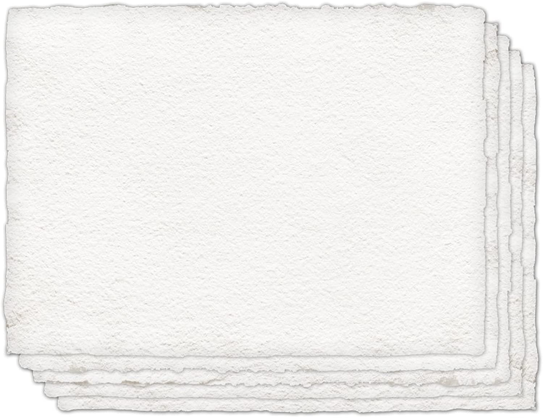 Indigo artpapers–100% Baumwolle, cold-pressed Handmade Papier für Wasserfarben 300 g m2 22 x 30, 5 Sheets wei
