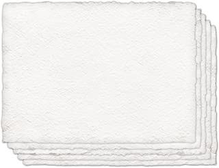 Indigo Artpapers 100% Cotton Cold-Pressed Handmade Paper for Watercolors, 22 x 30 Inches, 300 GSM, 5 Sheets (IAPCO31)