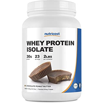 Nutricost Whey Protein Isolate (Chocolate Peanut Butter, 2 Pound) Protein Powder