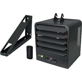 KING KB2407-1-B2-ECO KB ECO2S Garage Heater w/Bracket, Thermostat and  Remote Control, 7500W / 240V, Gray - - Amazon.com  Amazon.com