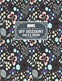 Off Discount Sales Book: Sales Product Quantity Discount Tracker Notebook