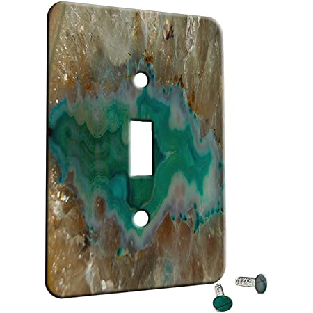 Crystal Rainbow Opulence Decor Switch Plate Cover Metal 2 Gang 1 Toggle 1 Duplex Combo Wall Plate