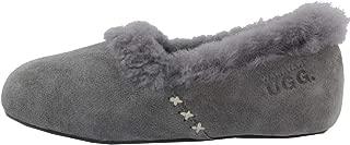 WARATAH UGG Woman's Sheepskin Cross Stitch Slippers - Grey