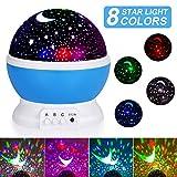 Sternenhimmel Projektor, SUNNEST baby Nachtlicht LED 360° Rotierend Projektionslampe Romantische LED Perfekt für Party,Kinderzimmer,Weihnachten