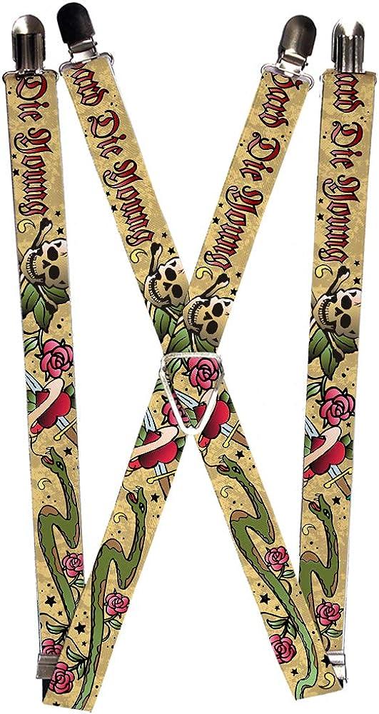 Buckle-Down Suspender - Live Hard Tattoo