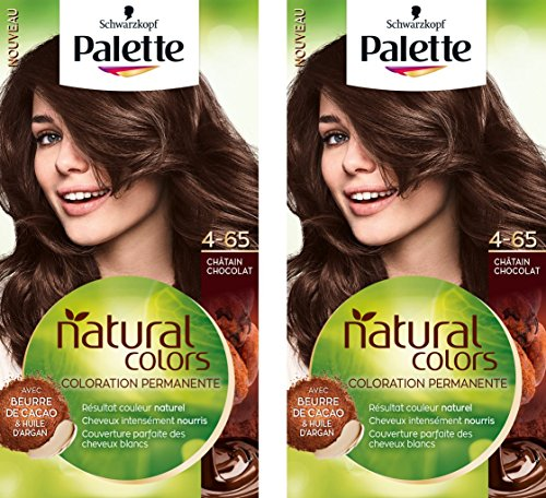 Schwarzkopf - Palette Natural Colors - Coloration Permanente - Châtain Chocolat 4.65  - Lot de 2