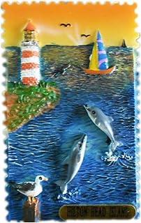 Hilton Head Island America USA Fridge Magnet 3D Resin Handmade Craft Tourist Travel City Souvenir Collection Letter Refrig...