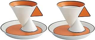 Set 2 Coffee Cups & Saucers - Jazz