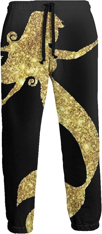 Men's Women's Sweatpants Gold Mermaid Athletic Running Pants Workout Jogger Sports Pant